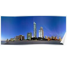 Early morning at Surfers Paradise Poster
