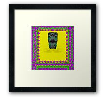 Fantasy island on clouds,involved is a mermaid Framed Print