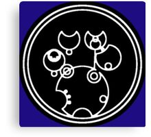 Doctor Who - Together or Not at All in Gallifreyan Script Canvas Print