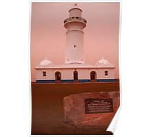 The 2009 Sydney Dust Storm / Maquarie Lighthouse View Poster