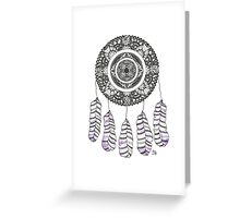 Watercolor and Ink dreamcatcher Greeting Card