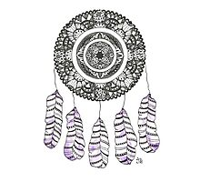 Watercolor and Ink dreamcatcher Photographic Print