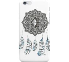 Watercolor and Ink dream catcher (blue) iPhone Case/Skin