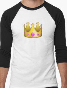 Emoji Crown Men's Baseball ¾ T-Shirt