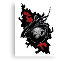 Darth Vader Wrecking Star Canvas Print