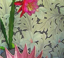 Cactus With Pink Spiked Bowl, Texturized by Michael May