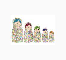 Rainbow Matryoshka Nesting Dolls Womens Fitted T-Shirt