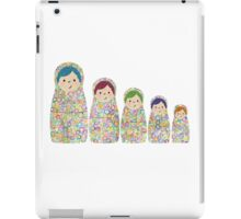 Rainbow Matryoshka Nesting Dolls iPad Case/Skin