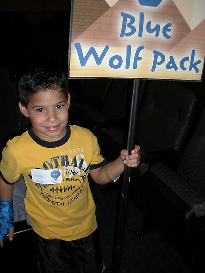 Boy in the Blue Wolfpack by jannalynn