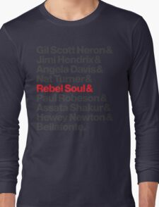 Rebel Soul Helvetica Ampersand T-Shirts & More Long Sleeve T-Shirt