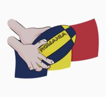 Rugby Romania Flag One Piece - Short Sleeve