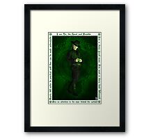 Steampunk Oz: The Wizard Framed Print