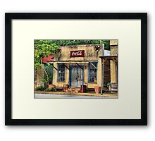 Town in Facade Framed Print
