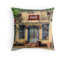 Town in Facade Throw Pillow