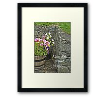 Barrelful of love --card Framed Print