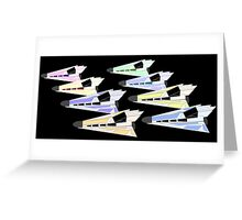 Simplistic Starships Greeting Card