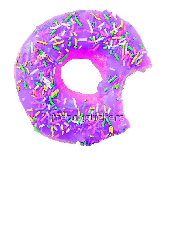 Purple Donut Stickers By Trendystickers
