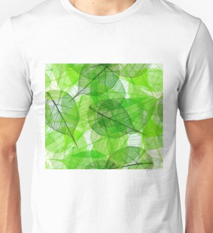 green leaves - organic art Unisex T-Shirt