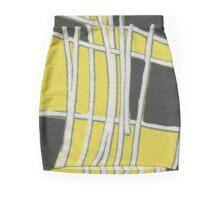 60's Yellow (yellow, black, white) Mini Skirt