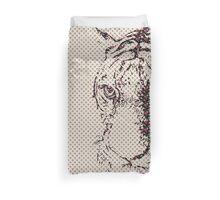 Floral Tiger Duvet Cover