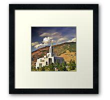 Draper LDS Temple Framed Print