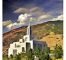 Draper LDS Temple Photographic Print