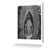 Our Lady Gravestone Greeting Card