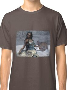 Native American Fantasy 1: Winter Wolf Classic T-Shirt