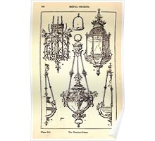 A Handbook Of Ornament With Three Hundred Plates Franz Sales Meyer 1896 0390 Metal Objects Pendant Lamp Poster
