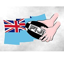 Fiji Rugby Flag Photographic Print
