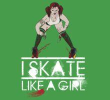 Atomic Blast - Skate like a Girl Kids Tee