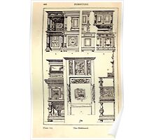 A Handbook Of Ornament With Three Hundred Plates Franz Sales Meyer 1896 0464 Furniture Sideboard Poster