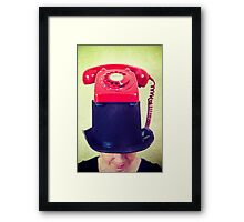 Phone Girl Framed Print