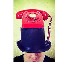 Phone Girl Photographic Print