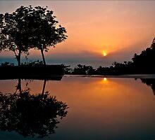 Amanjiwo pool, Java, Indonesia by geofflackner