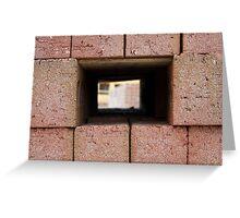 Through the brick wall Greeting Card