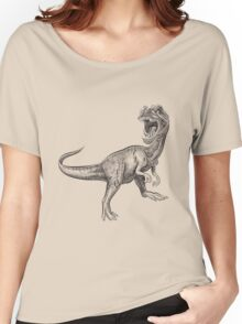 Dinosaur hand drawing Women's Relaxed Fit T-Shirt