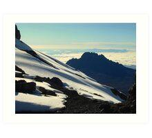 Mawenzi Peak from Kilimanjaro Art Print
