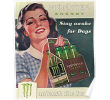 Vintage Monster Energy  Poster