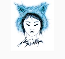 Cat Tee, Not your Kitty, Inuit blue Womens Fitted T-Shirt