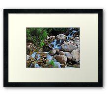 Roadside Cascades Framed Print