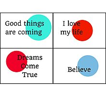 Positive Affirmations collage Photographic Print