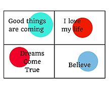 Positive Affirmations collage by IdeasForArtists