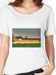 Long Red Barn Women's Relaxed Fit T-Shirt