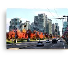 Autumn in Downtown Vancouver, Canada Canvas Print