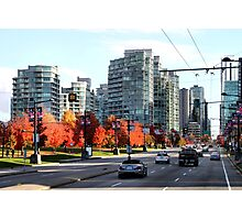Autumn in Downtown Vancouver, Canada Photographic Print