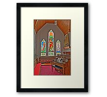 HDR - SMLC - Organ and Stained Glass Framed Print