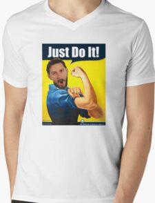 Shia the Riveter Mens V-Neck T-Shirt
