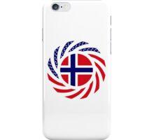 Norwegian American Multinational Patriot Flag Series iPhone Case/Skin
