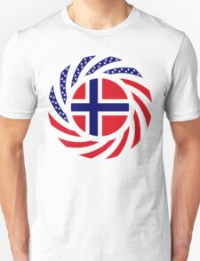 Norwegian American Multinational Patriot Flag Series T-Shirt